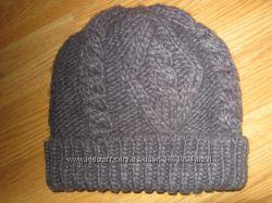 Вязана шапка роз-54