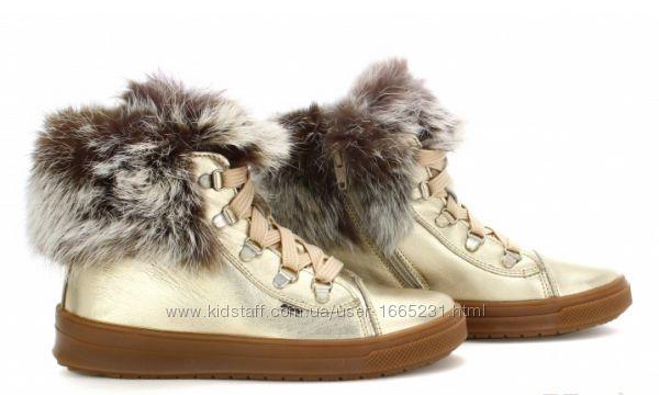 Ботинки зимние золотистые для девочки Bartek