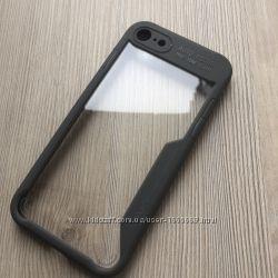 Чехол для Apple iphone 7 8 Auto Focus с серым ободом