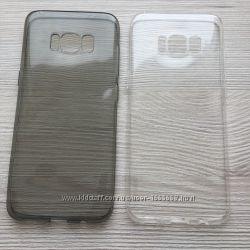 Силиконовый прозрачный или серый чехол для Samsung Galaxy S8