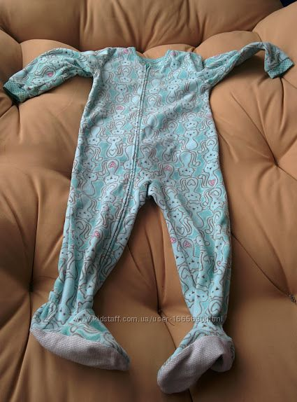 Флисовая слип пижама 2-3 года