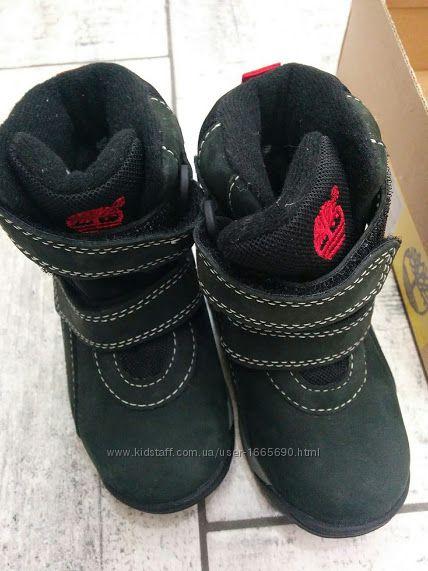 Детские ботинки-сапожки Timberland из кожи. Стелька по длине 12. 5см. 5us&9221