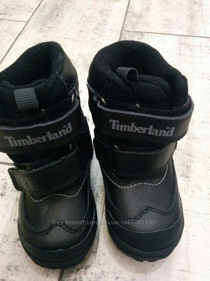 Детские ботинки-сапожки Timberland из кожиСтелька по длине 14см. 6, 5 us 23
