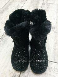 Теплые зимние сапоги угги для девочки  28 размер - 17, 0 см 29 размер - 17, 5