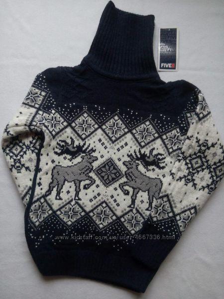 b7526ba2b8876 Детский свитер под горло зимний на мальчика фирмы FIVE с оленями, 375 грн.  Детские регланы, толстовки, свитера купить Днепр - Kidstaff | №27696824