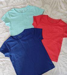 Базовые футболки Kiabi р.3-5 лет