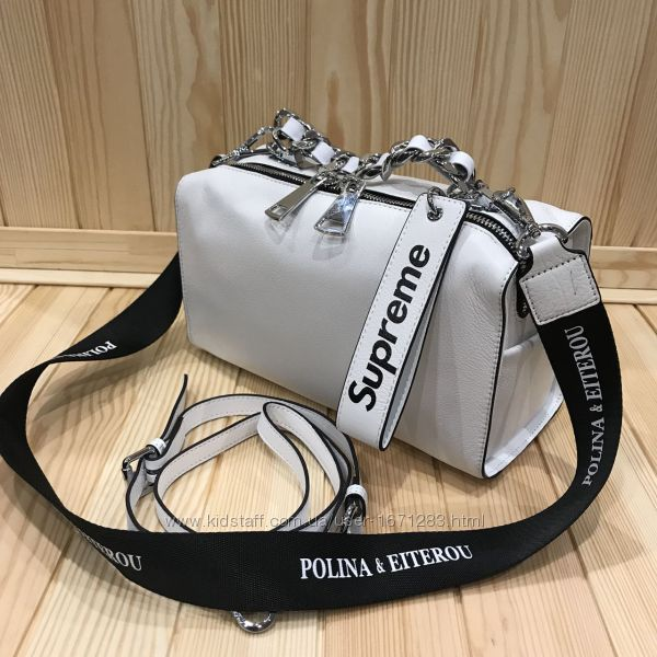 Женская кожаная сумка Polina & Eiterou люкс копия, брендовая сумка новинка