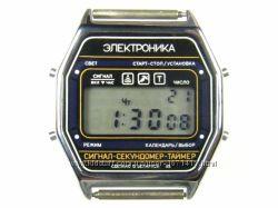 часы ЭЛЕКТРОНИКА ЧН-55 с ЦНХ 5 мелодий арт. 1157