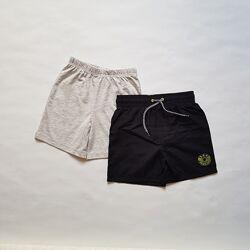 Набор шортов для мальчика, пляжные шорты и трикотажные шорты, 4-5л, George