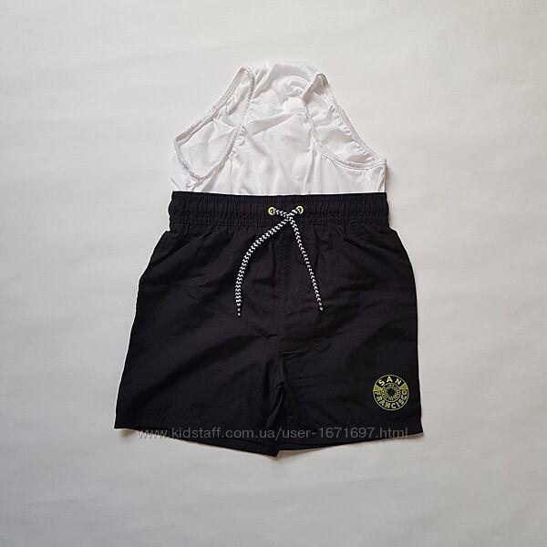 Чёрные пляжные шорты с трусиками- сеточкой , 4-5лет, George