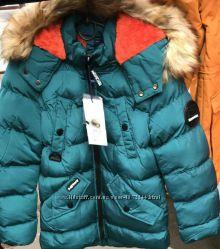 Зимняя курточка для мальчика, Венгрия, Grace, 4  и 12, цвет бирюза
