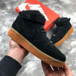 Мужские зимние ботинки Найк Nike, ТОП качество, черные, р. 40-45, INF129