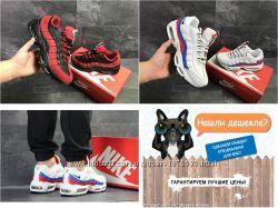 Стильные мужские кроссовки Nike 95 Найк, черные и белые, 41-46, SF7081-7082