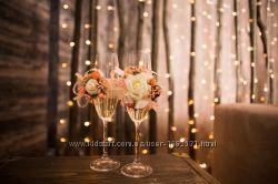 цветы украшения для свидетелей гостей или для фотосессии