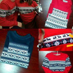 Новогодний Family look, свитера на фотосессию, лук