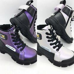 демисезонные ботинки на девочку 26-31 р Jong Golf, утепленные