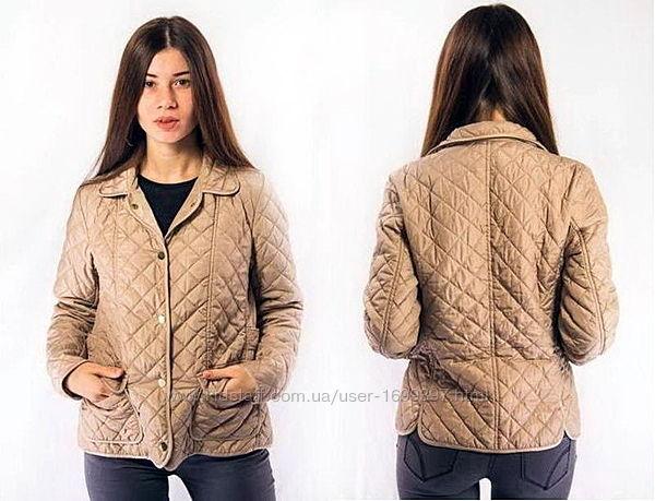 Куртка женская бежевая стеганая zara woman m
