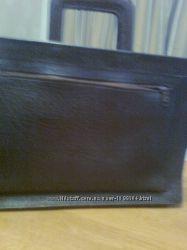 Кожаный портфель-сумка шоколадного цвета Новый