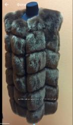Меховая жилетка 90 см