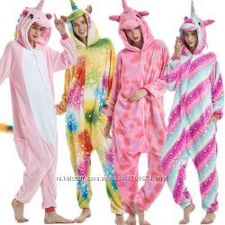 Кигуруми пижама единорог тапки 16d39b10a76ae