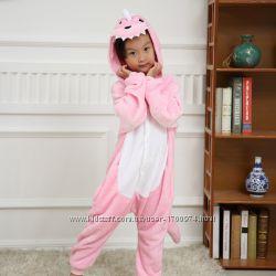 Костюм Кигуруми Розовый динозавр Дино дракон пижама