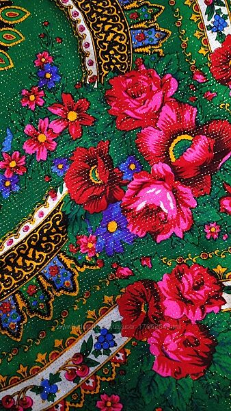 Японский платок с люрексом 100 шерсть