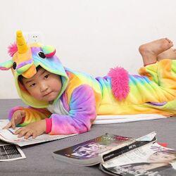 Детская Пижама кигуруми Единорог радужный / кігурумі Єдиноріг райдужний
