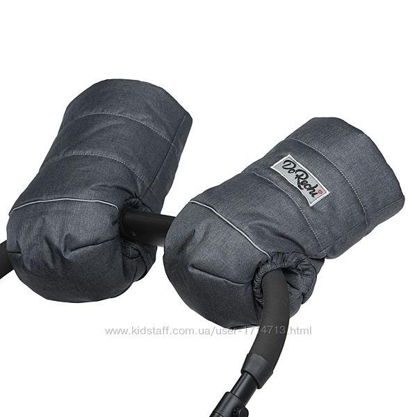 Муфта на коляску детскую овчина серая / рукавицы для коляски Доречи