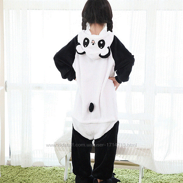 Пижама Кигуруми Панда веселая детская / Кігурумі Панда / костюм кигуруми