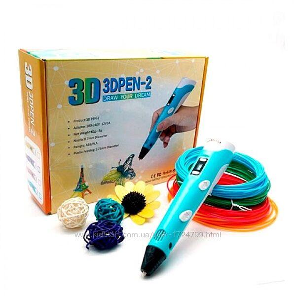 Детская 3D ручка для рисования c LCD дисплеем