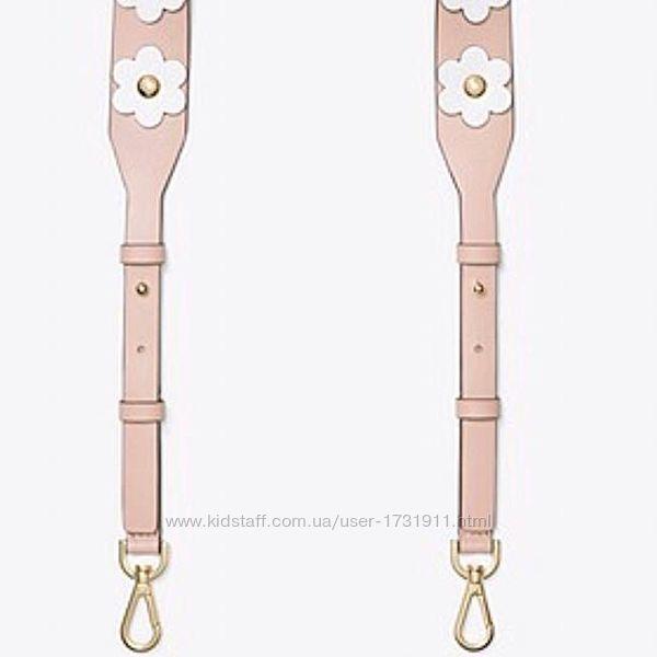 Плечевой кожаный розовый ремень для сумки Michael Kors