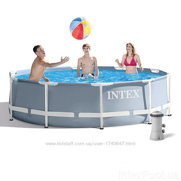 Каркасный семейный бассейн Интекс 305х76 с фильтром насосом 26702