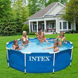 Каркасный бассейн Интекс 28200синий , 26700серый 305х76 Intex