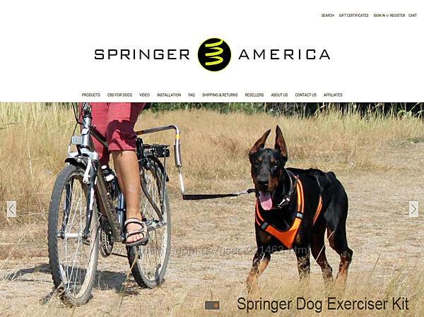 Велоспрингер велоповодок для собак
