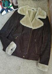 C&a германия крутая куртка дубленка авиатор, косуха натуральная кожа