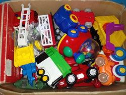 Машинки пакет игрушек для мальчиков пожарная машина книга
