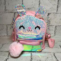Рюкзак детский c ушками, блестящий рюкзак
