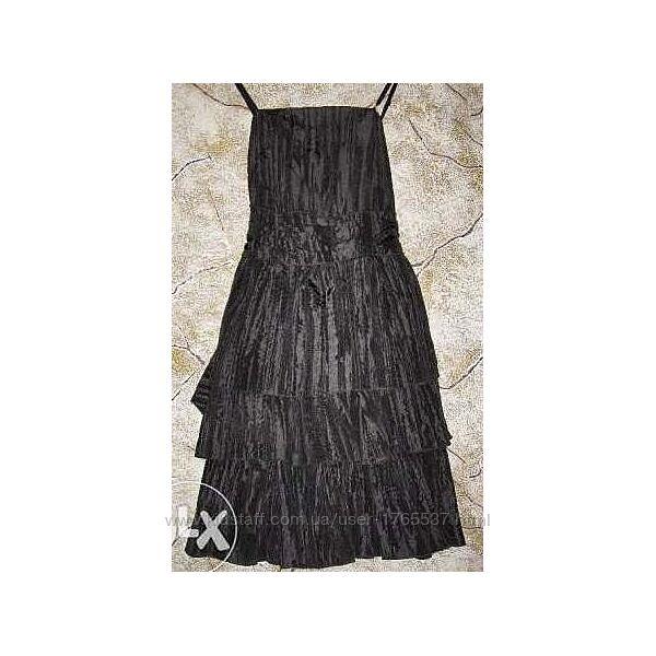 Фирменный чёрный , летний красивый сарафан. Ткань-жатка. Португалия. 46-50