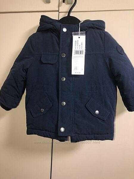 Парка тёплая куртка на мальчика 6-9 месяцев