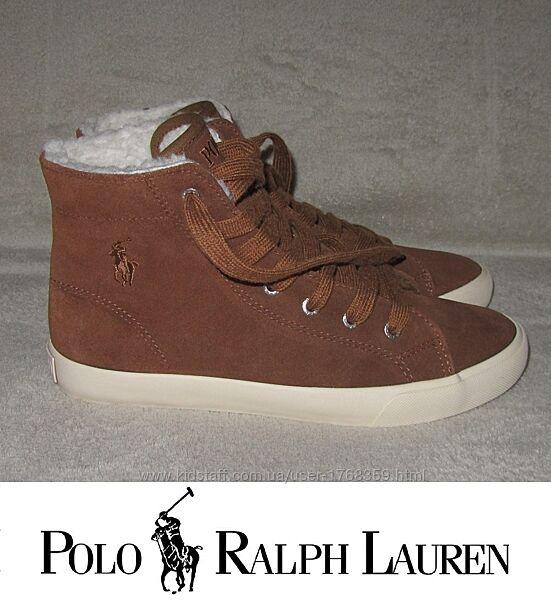 Хайтопы Polo Ralph Lauren новые США замш оригинал 36-37р. 23,5-23,9см