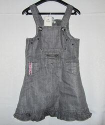 Новый джинсовый сарафан для девочки 115-125см