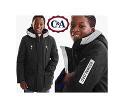Куртка парка на мальчика C&A Here&There Германия 134 и 140