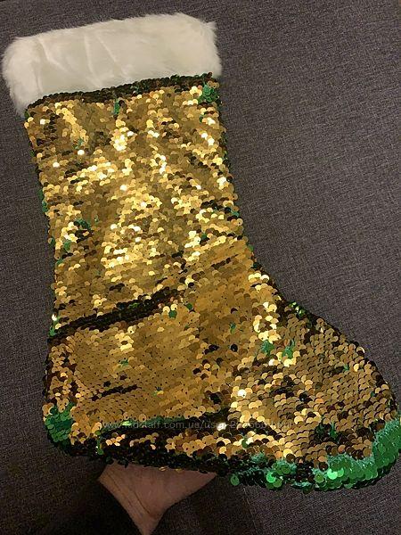 Носок для подарков Паетки-перевертыши