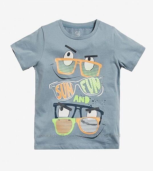 Стильная футболка с модным принтом от Cool club by Smyk, размер 122,134,158