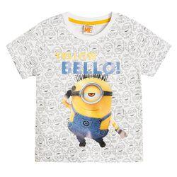 Стильная футболка с принтом Миньоны от Cool club by Smyk, размер 128 см