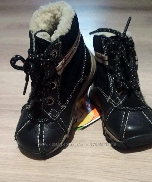 Кожаные на меху детские зимние ботинки, сапоги Superfit Суперфит