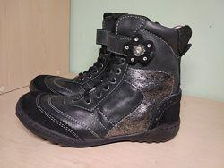 Сапоги ботинки  кожаные Ciao демисезонные для девочки