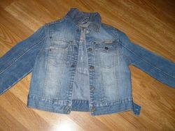 Куртка Пиджак джинсовый на мальчика 110-116р. Мехх