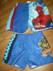 Шорты летние на мальчика Spider men Спайдер 110-128р.