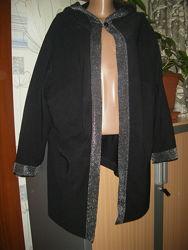 Шикарный кардиган с капюшоном, размер XXL-56-22